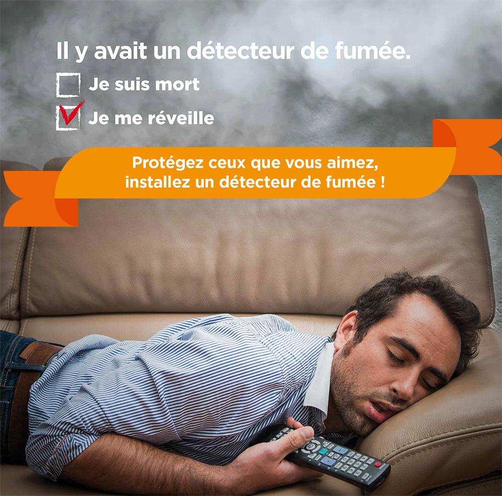 CAMPAGNE DE COMMUNICATION SUR LES DÉTECTEURS DE FUMÉE
